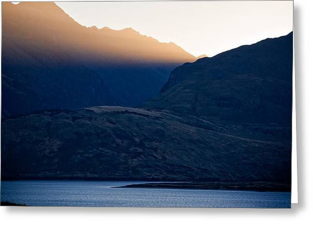 New Zealand Photographs Greeting Cards - Golden Rays Greeting Card by Dave Bowman