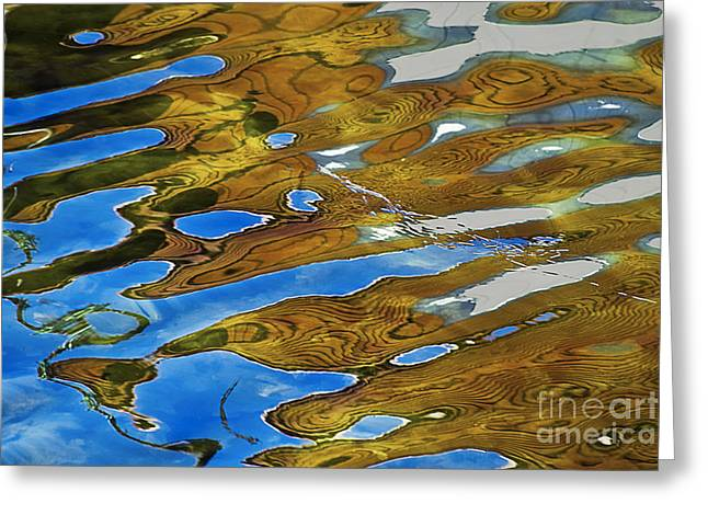 Heiko Greeting Cards - Golden reflection Greeting Card by Heiko Koehrer-Wagner