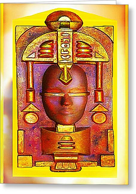Golds Reliefs Greeting Cards - Golden Reflection of Atlantis Greeting Card by Hartmut Jager