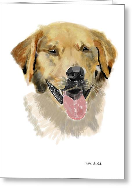 Owner Digital Greeting Cards - Golden retriever Greeting Card by Bob Donner