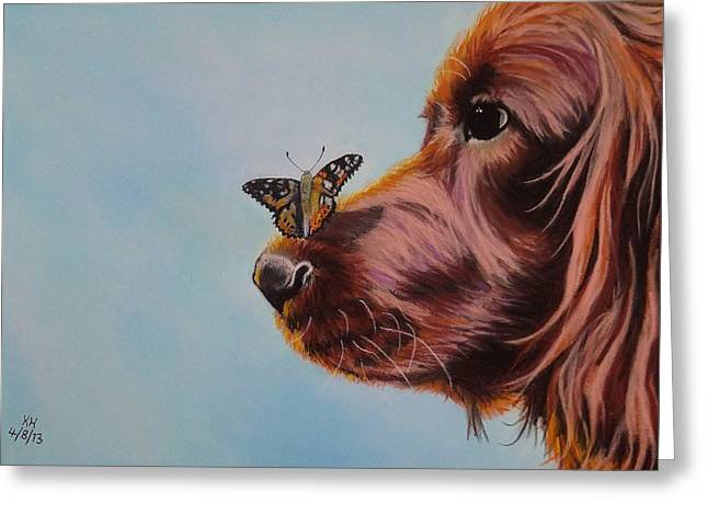 Surprise Pastels Greeting Cards - Golden Retriever Greeting Card by Kevin Hubbard