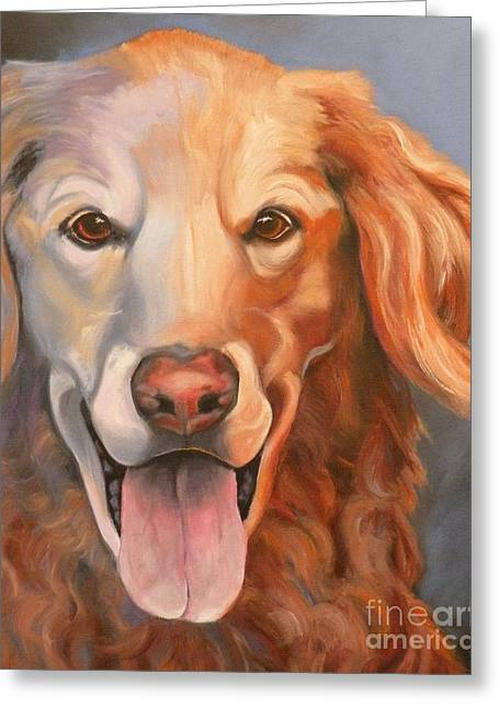 Retriever Prints Greeting Cards - Golden Retriever Till There Was You Greeting Card by Susan A Becker