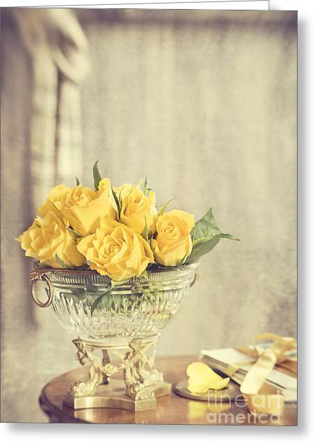Love Letter Photographs Greeting Cards - Golden Roses Greeting Card by Amanda And Christopher Elwell