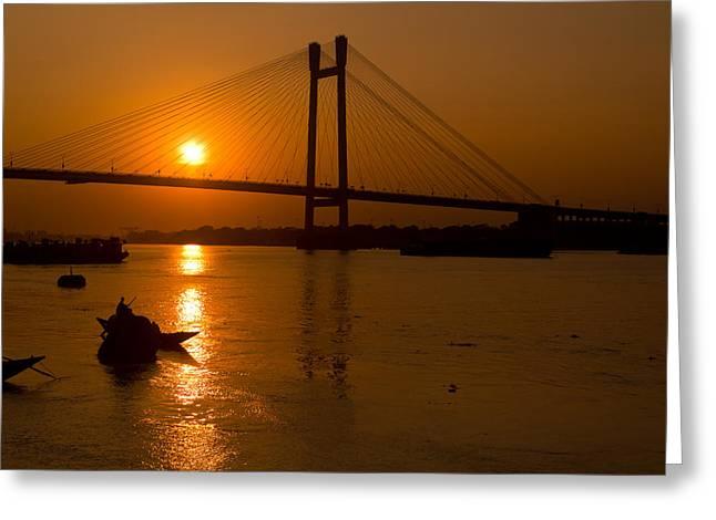 Sourav Bose Greeting Cards - Golden sail Greeting Card by Sourav Bose