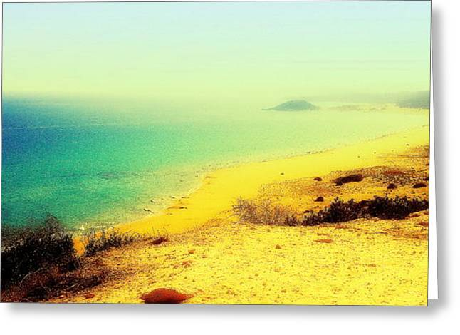 Psychiatric Greeting Cards - Golden Sands Greeting Card by Hilde Widerberg