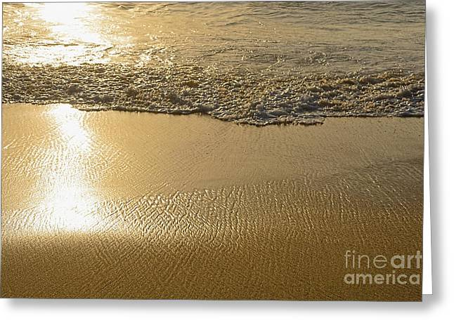 Sand Pattern Greeting Cards - Golden Seashore by Kaye Menner Greeting Card by Kaye Menner
