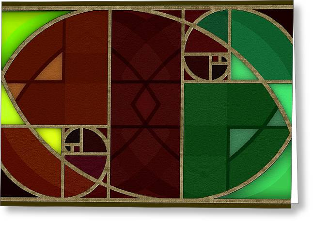 Abstract Geometric Greeting Cards - Golden Section 5 Greeting Card by Warren Furman