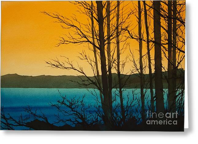 Landscape Framed Prints Greeting Cards - Golden Shore Greeting Card by James Williamson