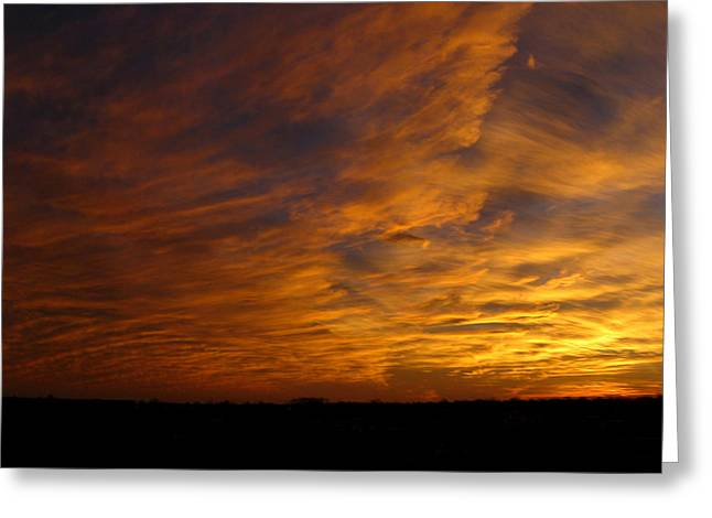 Rural Indiana Greeting Cards - Golden sky Greeting Card by Dan McCafferty