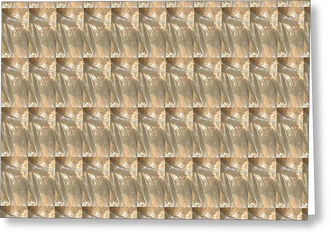 Gold Necklace Greeting Cards - Golden Sparkle Pattern V4 Greeting Card by Navin Joshi