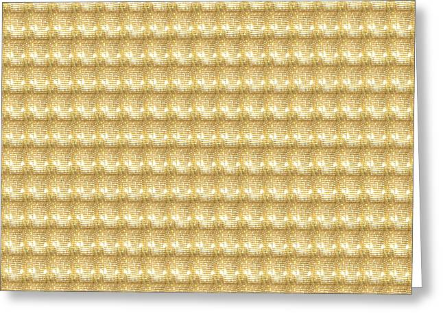 Gold Necklace Greeting Cards - Golden SPARKLE Tone Pattern Unique Graphic V2 Greeting Card by Navin Joshi