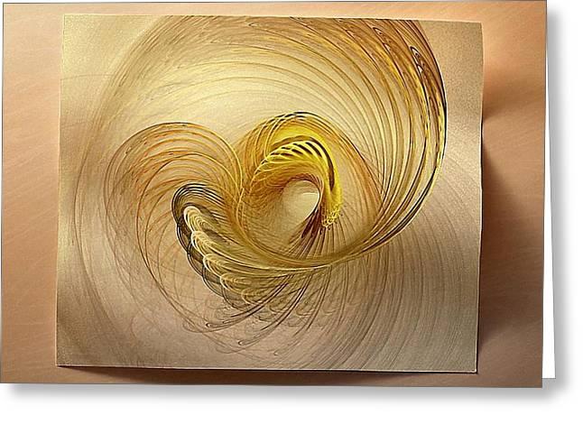 Fractal Image Greeting Cards - Golden spiral Greeting Card by Gun Legler
