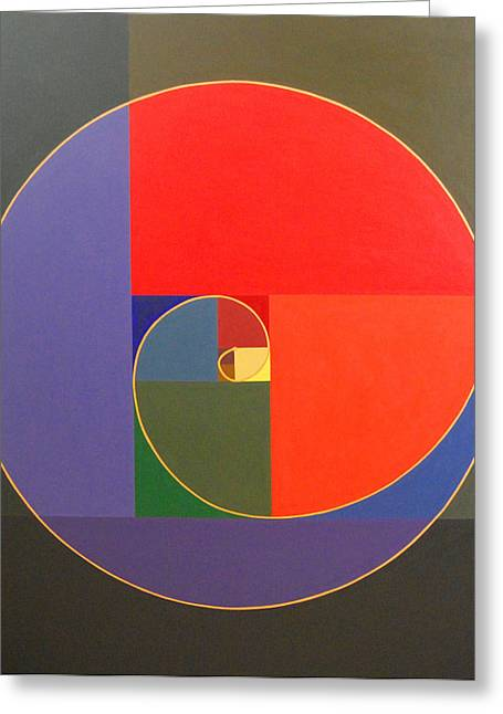 Chi Drawings Greeting Cards - Golden Spiral Greeting Card by Nick Osipczak