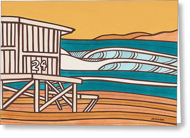 York Beach Mixed Media Greeting Cards - Golden State Greeting Card by Joe Vickers