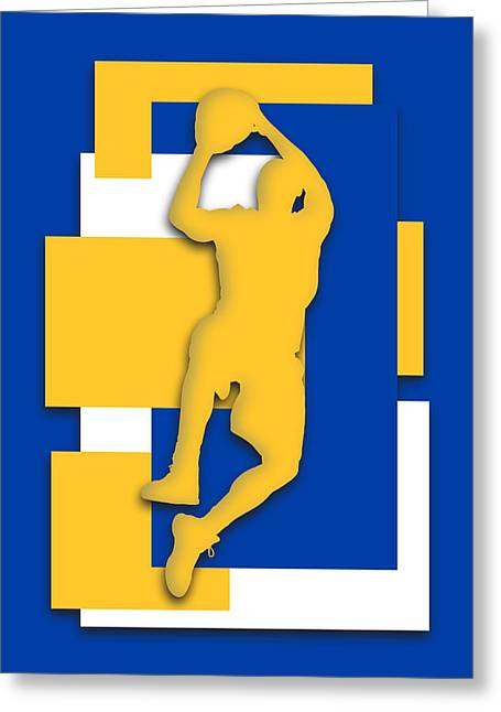 Golden State Greeting Cards - Golden State Warriors Art Greeting Card by Joe Hamilton