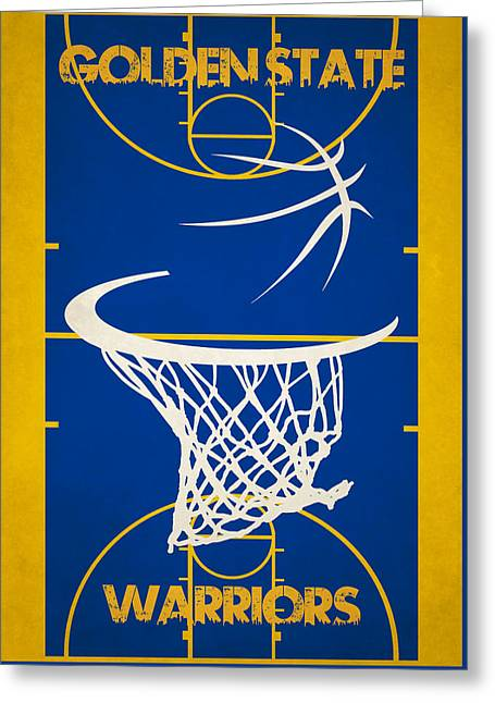 Golden State Greeting Cards - Golden State Warriors Court Greeting Card by Joe Hamilton
