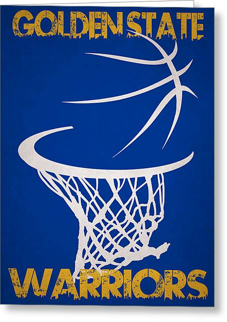 Pointer Greeting Cards - Golden State Warriors Hoop Greeting Card by Joe Hamilton