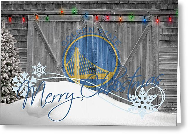 GOLDEN STATE WARRIORS Greeting Card by Joe Hamilton