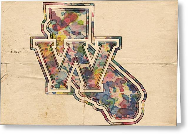 Golden State Warriors Digital Greeting Cards - Golden State Warriors Poster Vintage Greeting Card by Florian Rodarte