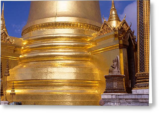 Stepping Stones Greeting Cards - Golden Stupa In A Temple, Grand Palace Greeting Card by Panoramic Images