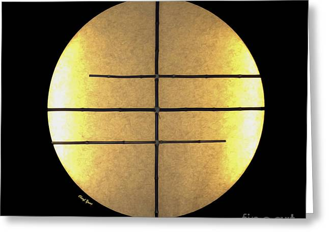 Bamboo House Photographs Greeting Cards - Golden Sun Greeting Card by Cheryl Young
