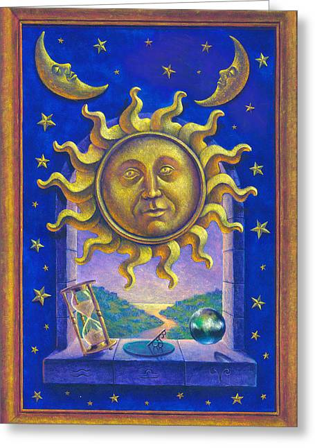 Magic Time Greeting Cards - Golden Sun GW Greeting Card by Garry Walton