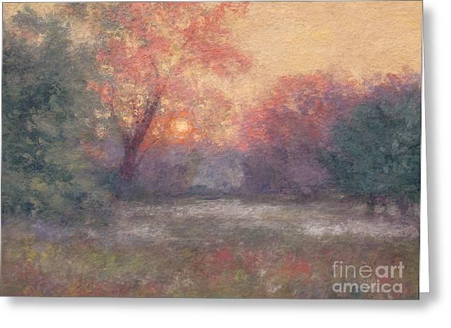 Gregory Arnett Paintings Greeting Cards - Golden Sunrise - June Greeting Card by Gregory Arnett