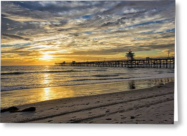 Clemente Greeting Cards - Golden Sunset Greeting Card by Barbara Eads