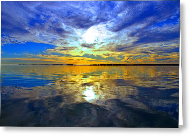 James R Granberry Greeting Cards - Golden Sunset Greeting Card by James Granberry