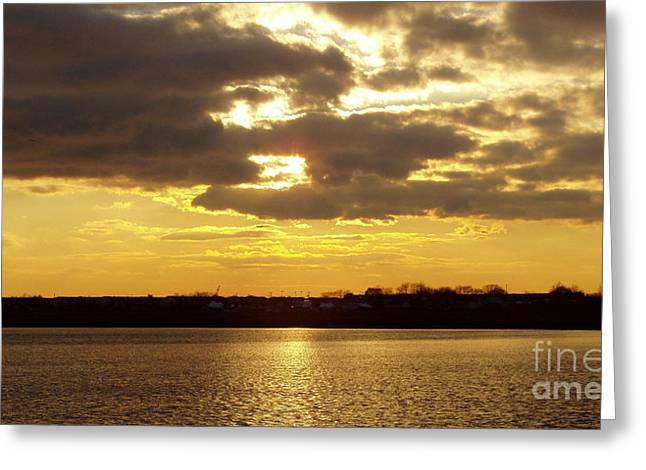 Sunset Greeting Cards Greeting Cards - Golden Sunset Greeting Card by John Telfer