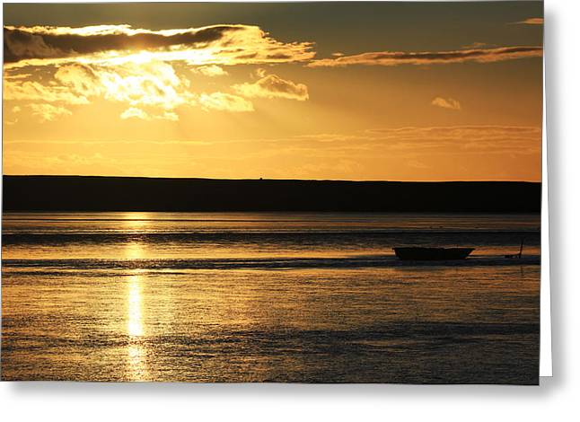 Golden Sunset Greeting Card by Ollie Taylor