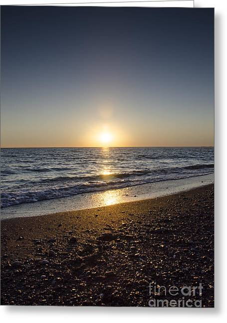 Canvas Pressure Greeting Cards - Golden Sunset2 Greeting Card by Bruno Santoro
