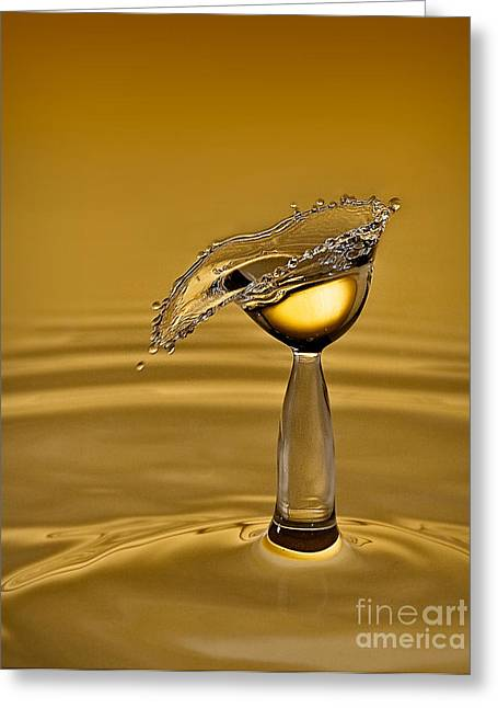 Hydration Greeting Cards - Golden Greeting Card by Susan Candelario