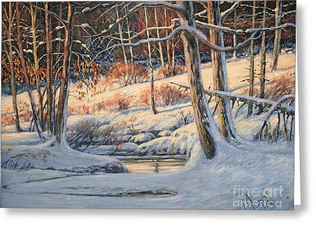 Artiste Quebecois Du Canada Greeting Cards - Golden thinning Greeting Card by Pierre Morin