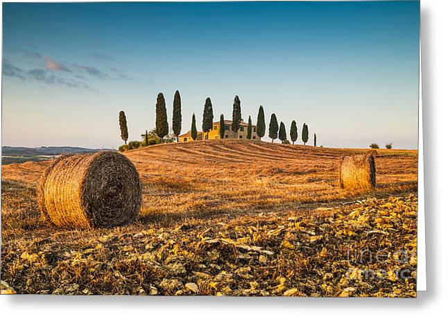 Best Sellers -  - Tuscan Sunset Greeting Cards - Golden Tuscany 2.0 Greeting Card by JR Photography
