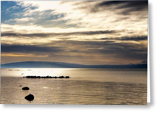 Galway Bay Greeting Cards - Golden Waters of Galway Bay Greeting Card by Mark Tisdale