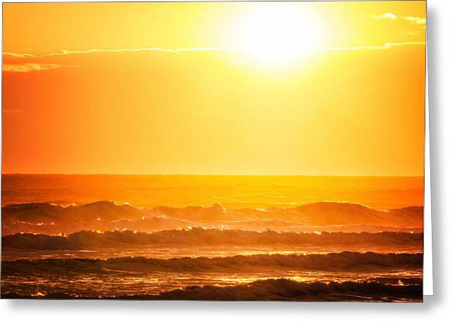 Babylon Greeting Cards - Golden Waves Greeting Card by Vicki Jauron