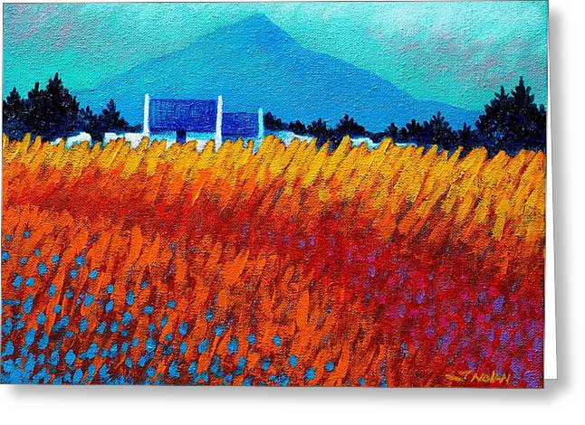 Acrylic Greeting Cards - Golden Wheat Field Greeting Card by John  Nolan