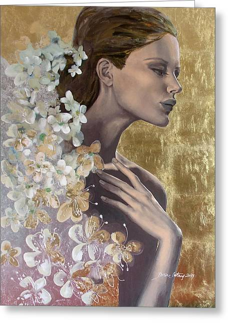 Live Art Greeting Cards - Golden wind Greeting Card by Dorina  Costras