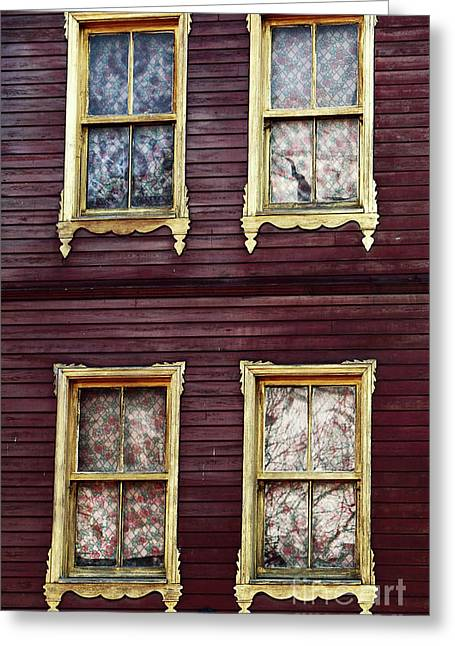 Sultanhmet Greeting Cards - Golden Windows Greeting Card by John Rizzuto