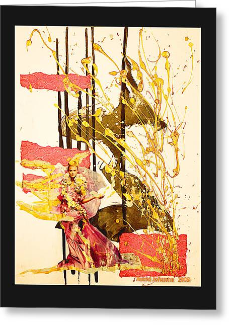 Fantacy Greeting Cards - Goldengirl Greeting Card by Astrid Norgaard