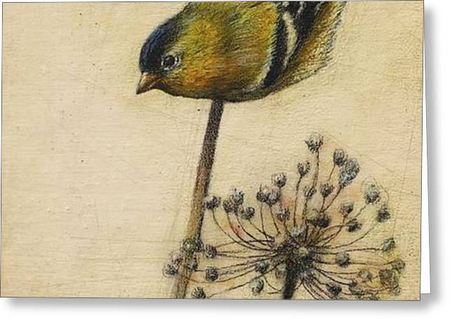 Goldfinch Greeting Card by Lori  McNee