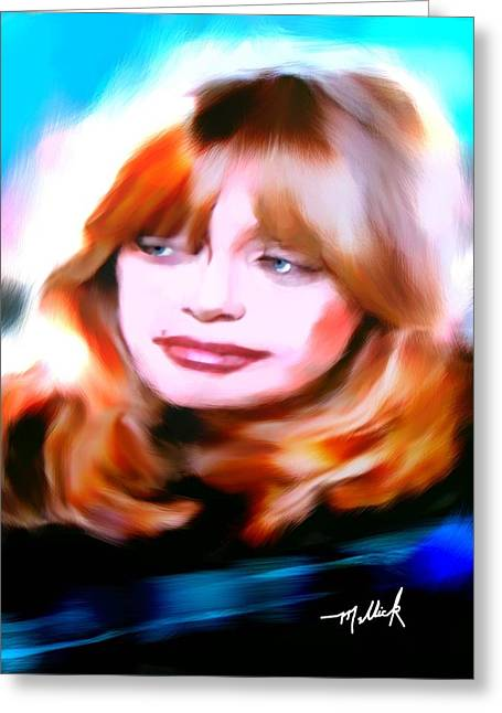 Goldie Hawn Greeting Cards - Goldie Hawn Actress Greeting Card by Carl Mellick
