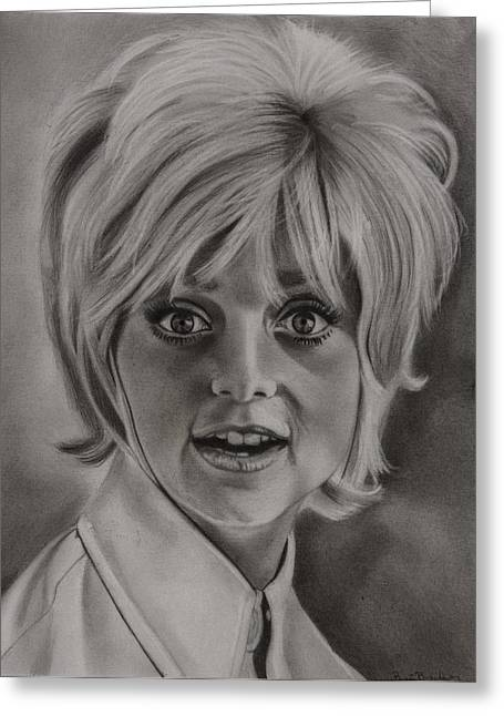 Award Drawings Greeting Cards - Goldie Hawn Greeting Card by Brian Broadway