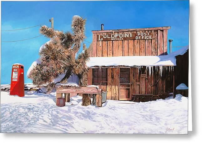Goldpoint-nevada Greeting Card by Guido Borelli