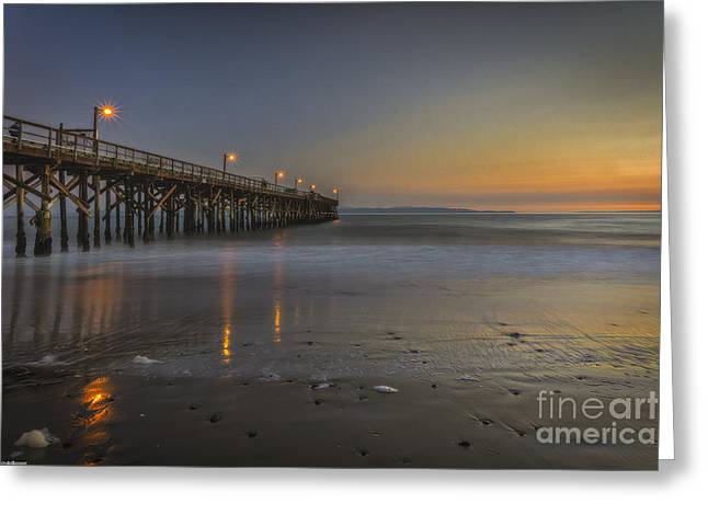 Water Reflecting At Sunset Greeting Cards - Goleta At Sunset Greeting Card by Mitch Shindelbower