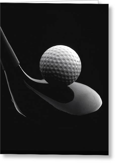 Golf Photographs Greeting Cards - Golf Ball And Club Greeting Card by John Wong