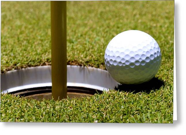 Clear Shoes Greeting Cards - Golf ball next hole Greeting Card by Lanjee Chee