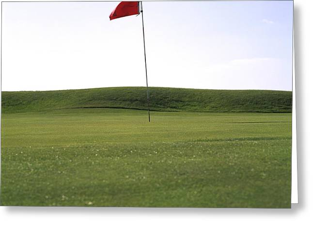Green Grass Blue Sky Greeting Cards - Golf Greeting Card by Bernard Jaubert