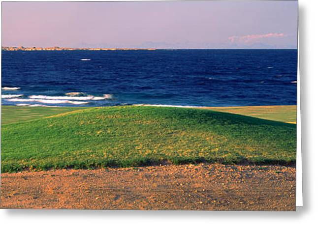 Club Scene Greeting Cards - Golf Course At Dusk, The Cascades Golf Greeting Card by Panoramic Images